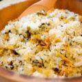 間人のサザエご飯は、間人温泉かねみつでも人気です